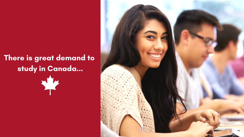 Canada in in demand with International Students